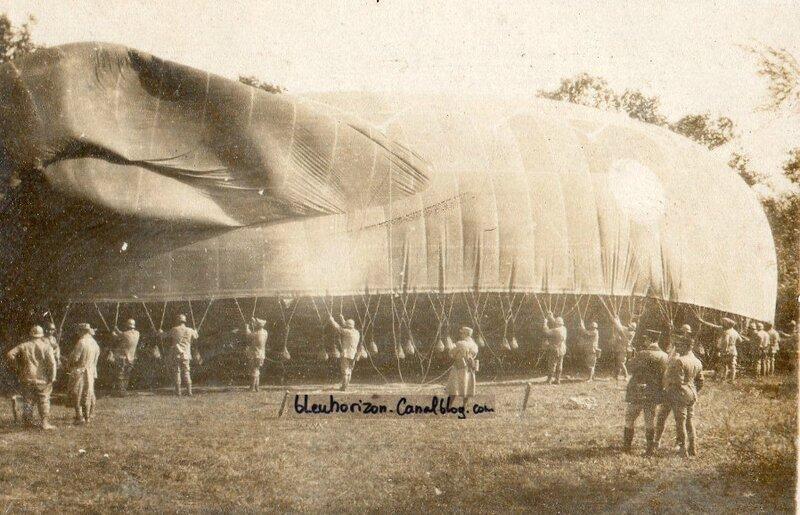 Bataille de St MIHIEL - 1918 - Une saucisse ballon Drachen - WW1