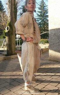 Veste Beya & reversible pants velvet
