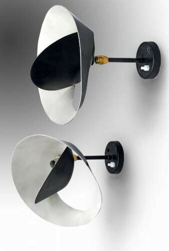 serge mouille 1922 1988 paire d 39 appliques mod le petit saturne alain r truong. Black Bedroom Furniture Sets. Home Design Ideas