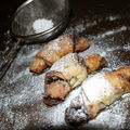 Rugelach (petits croissants) aux pistaches et chocolat