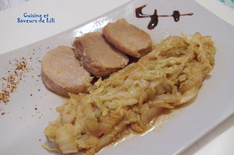 filet mignon de porc et chou chinois - cuisine et saveurs de lili