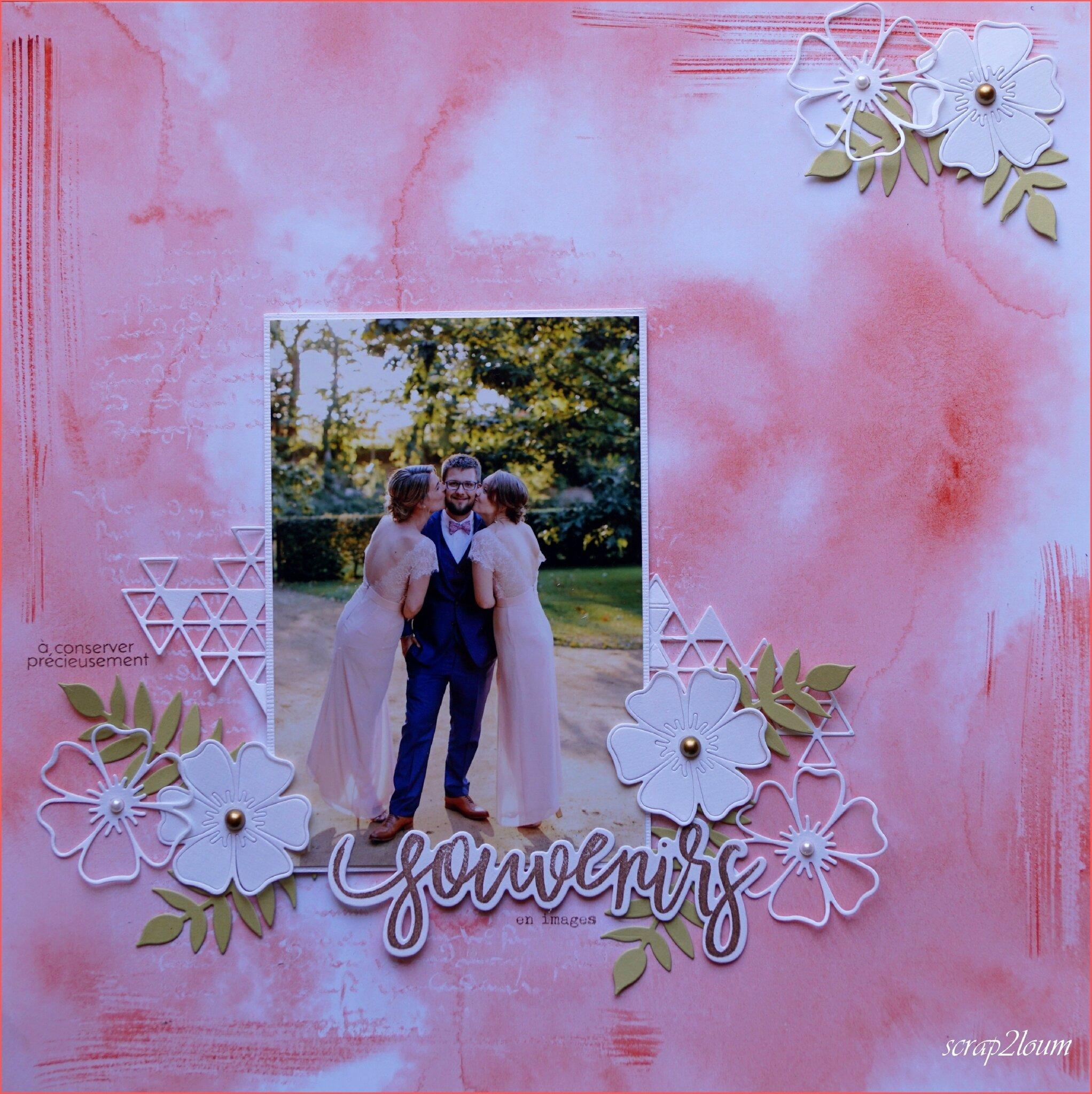 embelliscrap page aquarelle d'E=Va