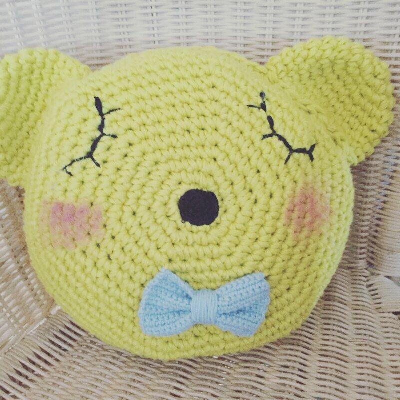 coussin crochet