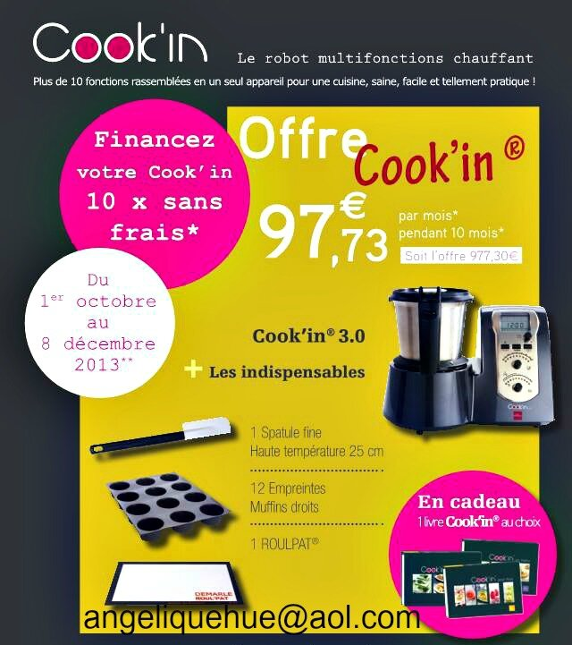 offre 10x sans frais pour votre cook 39 in la cuisine d 39 angelle. Black Bedroom Furniture Sets. Home Design Ideas