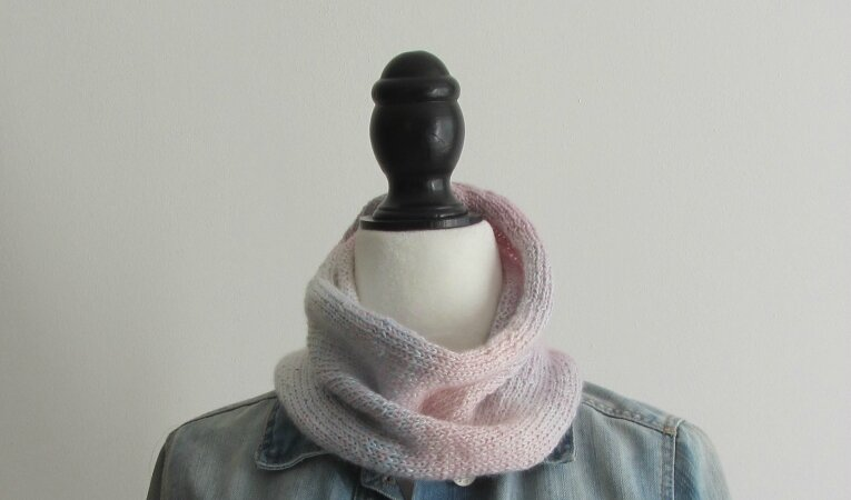 snood dégradé rose 3