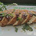 Filets de poulet rôtis au soda coca