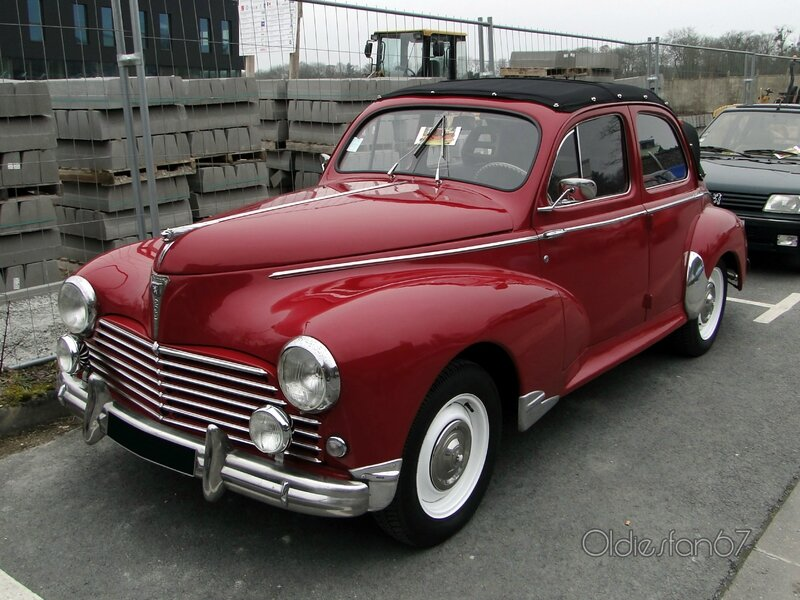 peugeot 203 d couvrable 1949 1954 oldiesfan67 mon blog auto. Black Bedroom Furniture Sets. Home Design Ideas