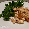 Salade de poulet au crottin de chèvre