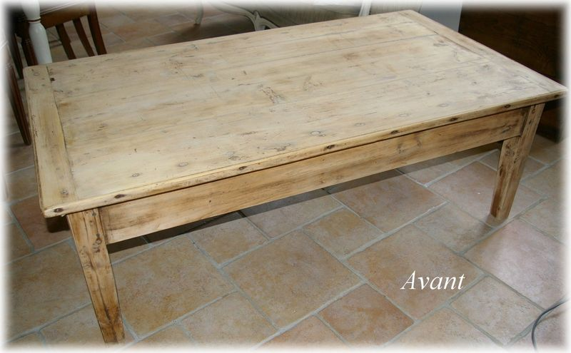 Comment patiner une table basse en bois for Patiner une table en bois