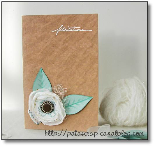 carte fleur tissu