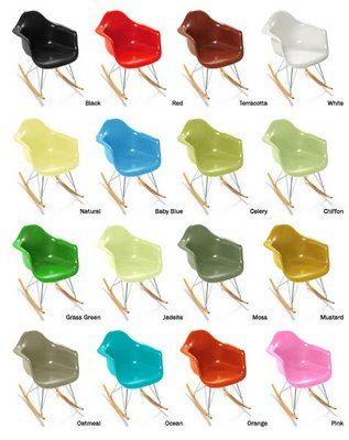 rocking chair rar de charles et ray eames - une very stylish fille ... - Chaise A Bascule Eames
