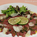 Carpaccio de canard  la tomme de brebis 