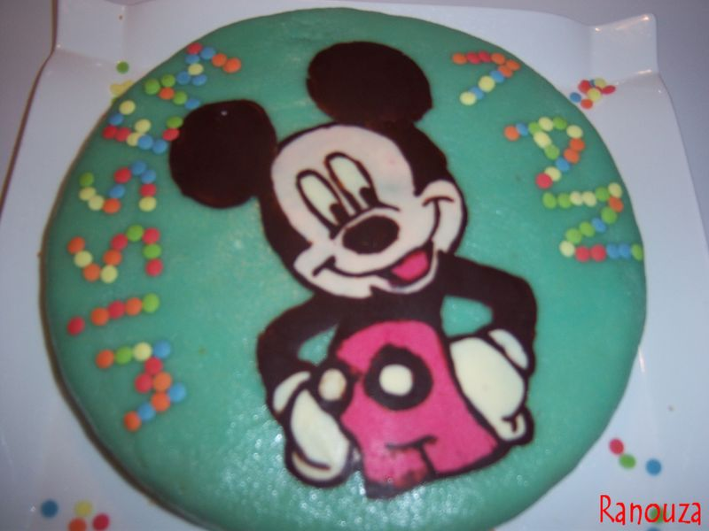 Recette gateau d anniversaire mickey home baking for you blog photo - Gateau mickey facile ...