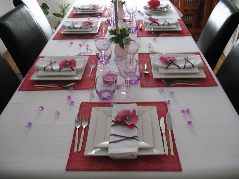 Id e d coration de table au printemps photo de photos for Decoration table de cuisine