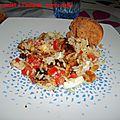 Salade de poulet à l'indienne, sucrée-salée