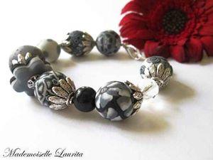 bracelet_noir_et_blanc_beads_pate_polymer