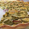 Une tarte à la rhubarbe toute simple...ça vous dit ?