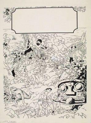 Illustration pour un cahier(?) Tintin