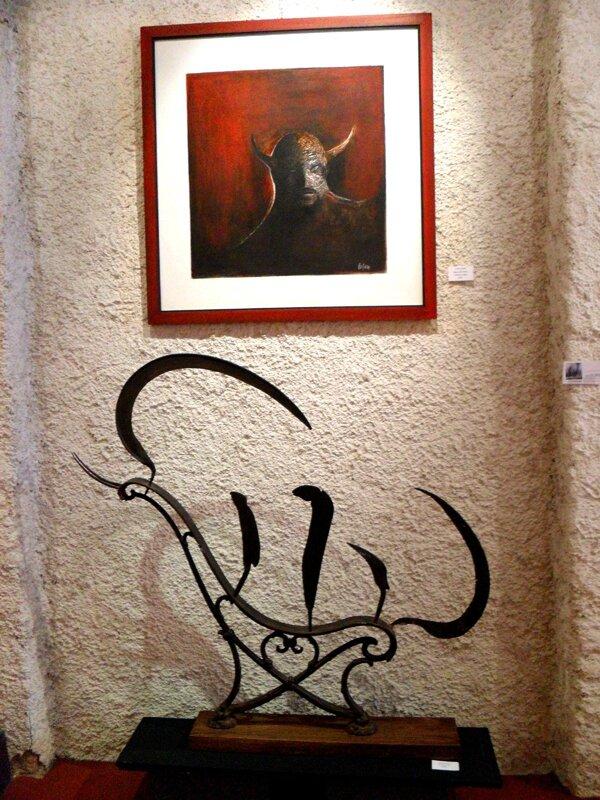 Lantourne : Seigneur des Ténèbres (acrylique), et l'Embarquement de J.France