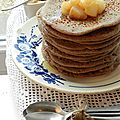 Les pancakes rustiques aux poires