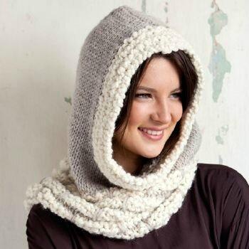 patron tricot snood capuche