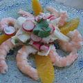Salade fraicheur (et minceur!) aux crevettes