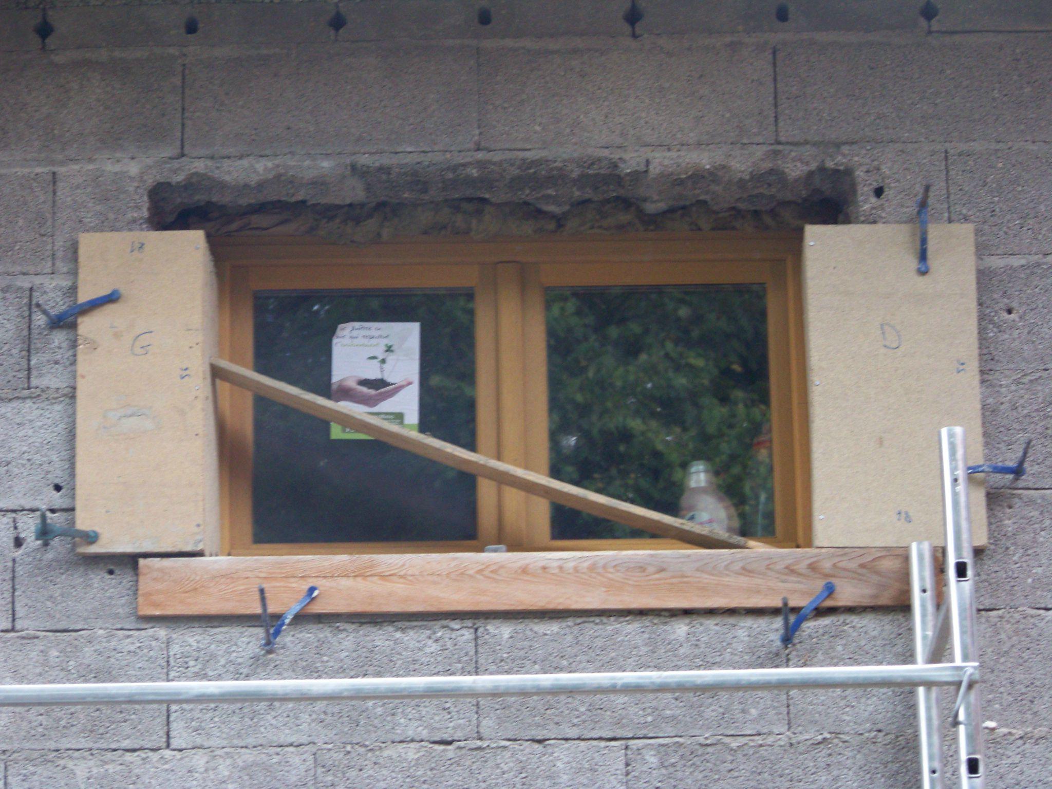 Jambages ouvertures et cuisini res bois r habilitation for Decoration linteau fenetre
