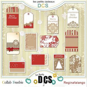 Free scrapbook christmas tags from Regina Falango
