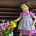 La petite jeanne au jardin