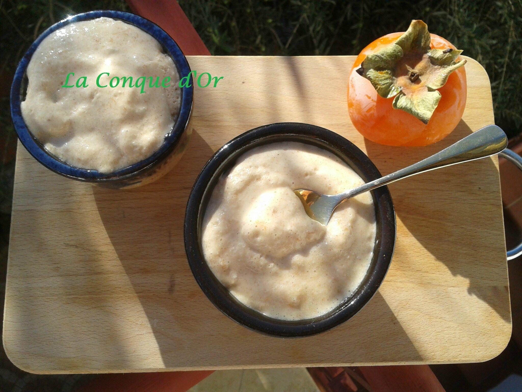 Petits pots de crème aux kakis et mascarpone