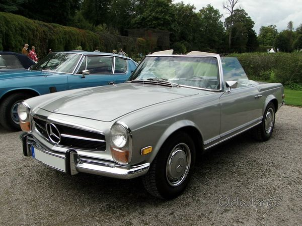 mercedes 280 sl roadster version us 1969 3