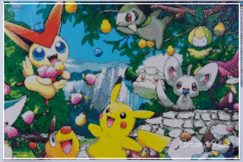 Diamond painting Pikachu