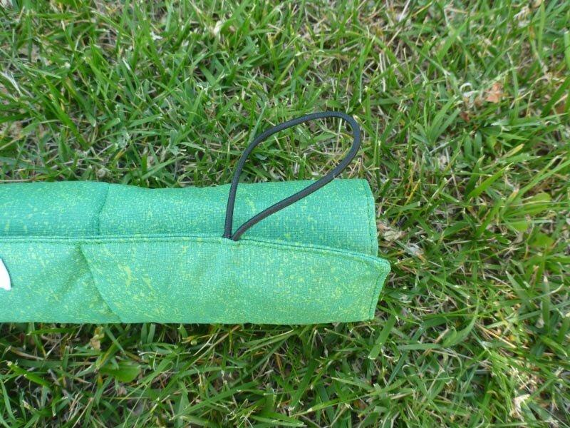 Coussin randonnée vert élastique