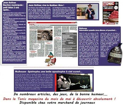 Tonic Magazine du mois de mai 2016