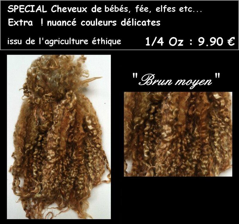 cheveux fee brun moyen