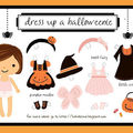 Halloweenie dress-up printable