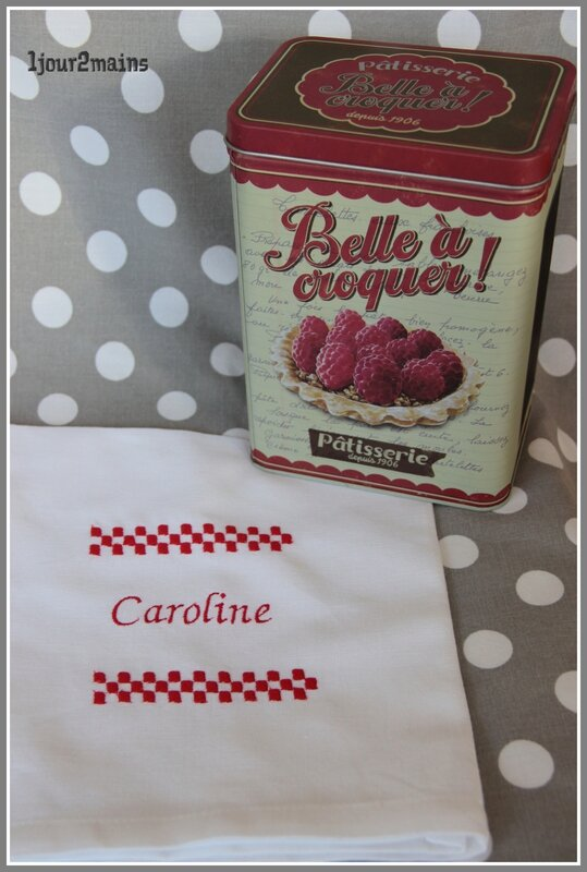 serviette table caroline
