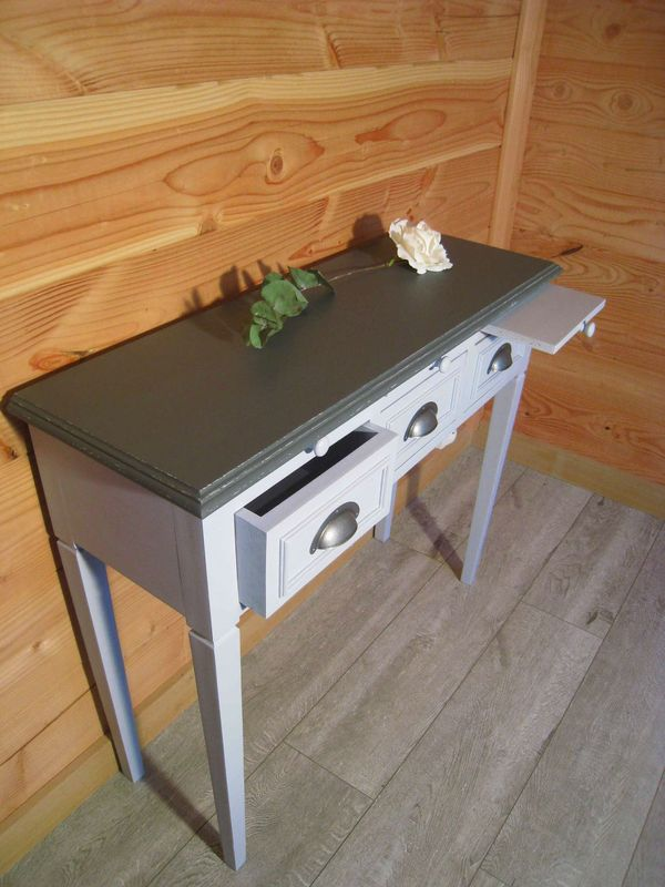 une ancienne console relook e patines couleurs. Black Bedroom Furniture Sets. Home Design Ideas