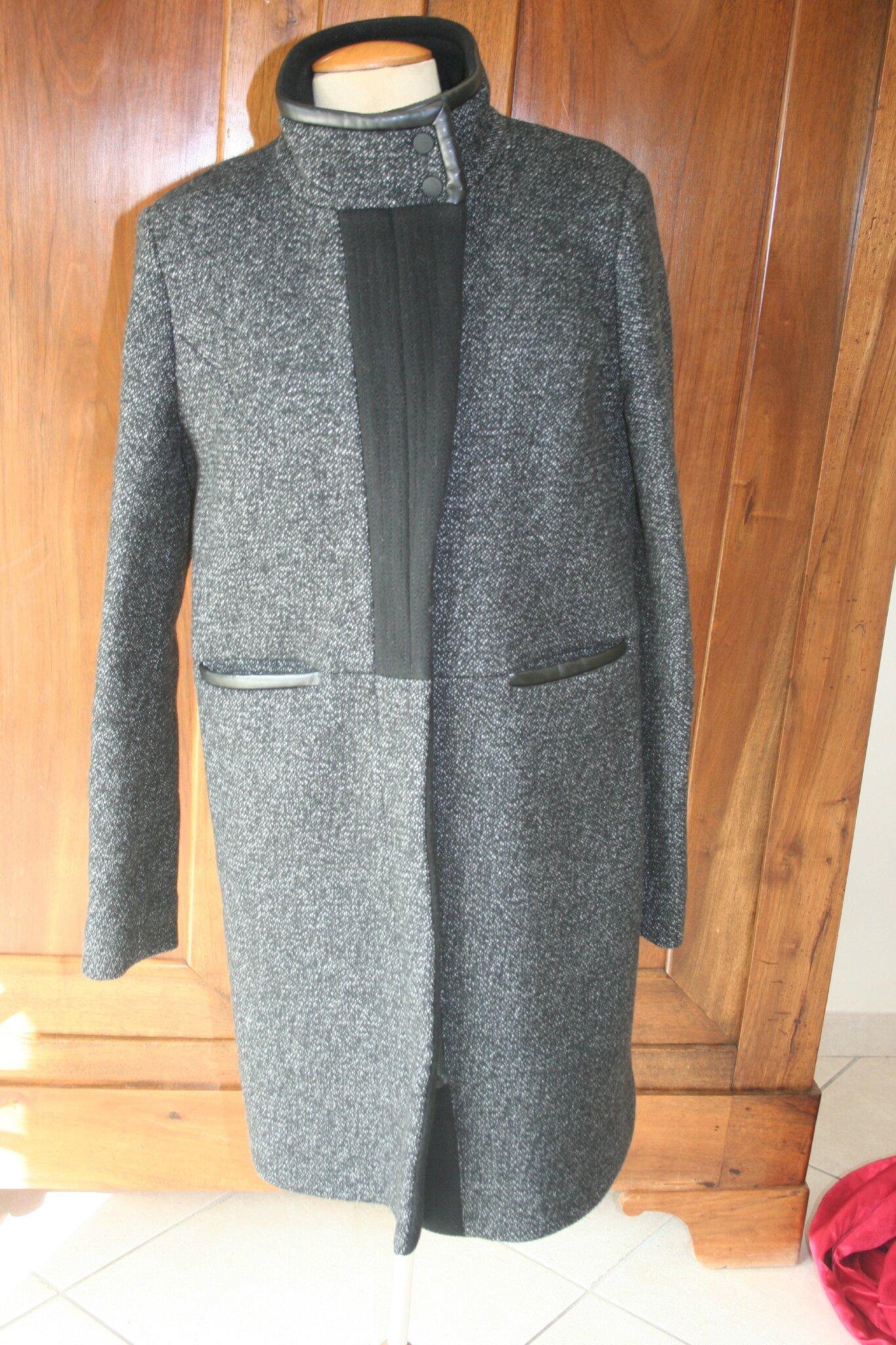 492 manteau comptoir des cotonniers 42 neuf larmoire - Manteau bi matiere comptoir des cotonniers ...