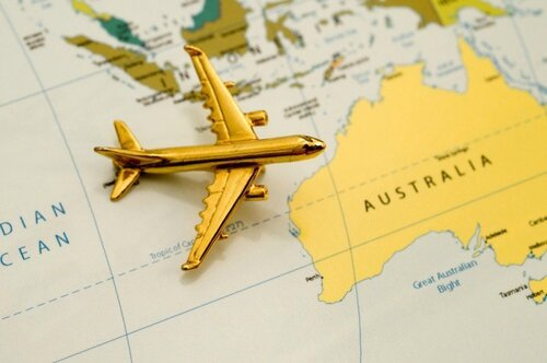 le voyage en avion france - australie