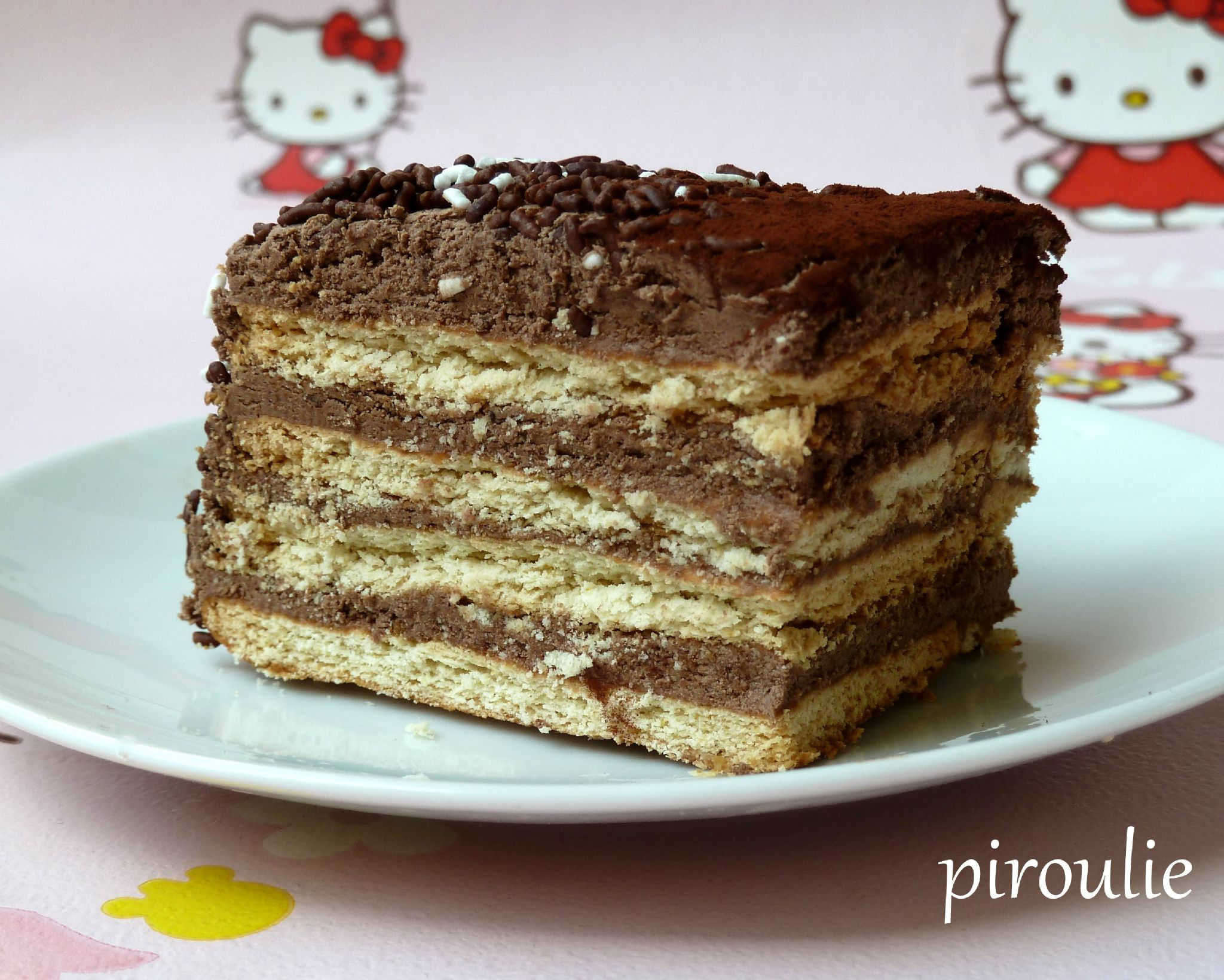 Gateau avec biscuit the lu