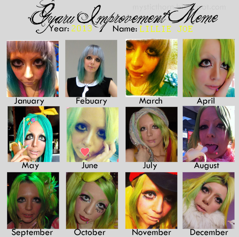 gyaru improvement meme copie