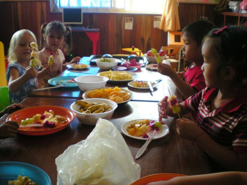 brochette fruits ecole