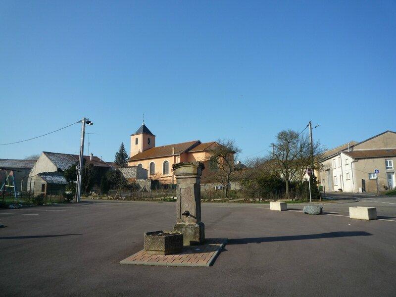place et église d'Amelécourt