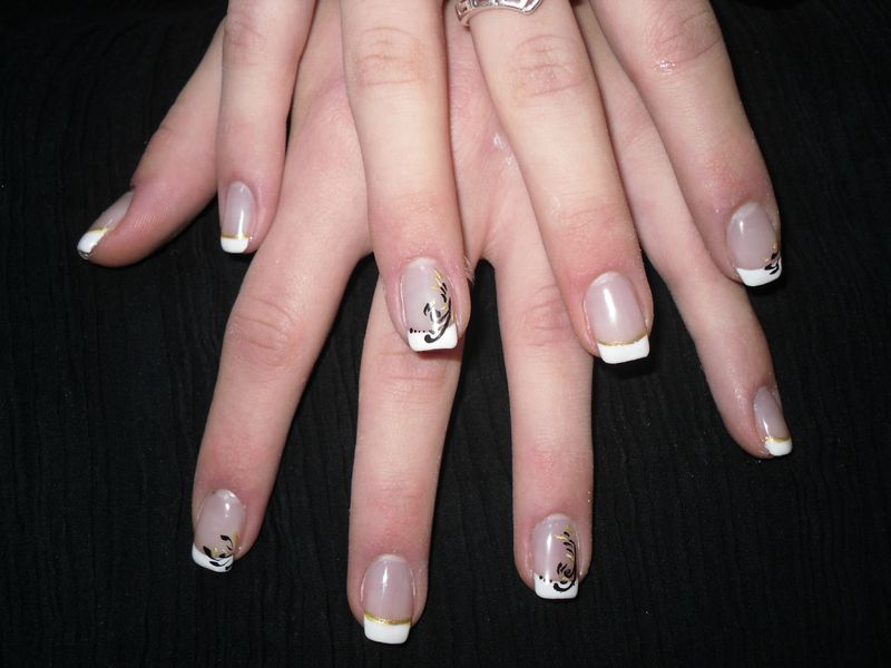 passion 39 nail pose d 39 ongles en gel french blanche et nail. Black Bedroom Furniture Sets. Home Design Ideas