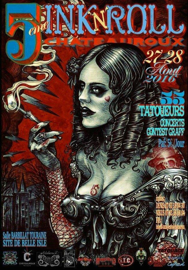 Ink'n'roll Tattoo Festival de Châteauroux 27 - 28 Août 2016