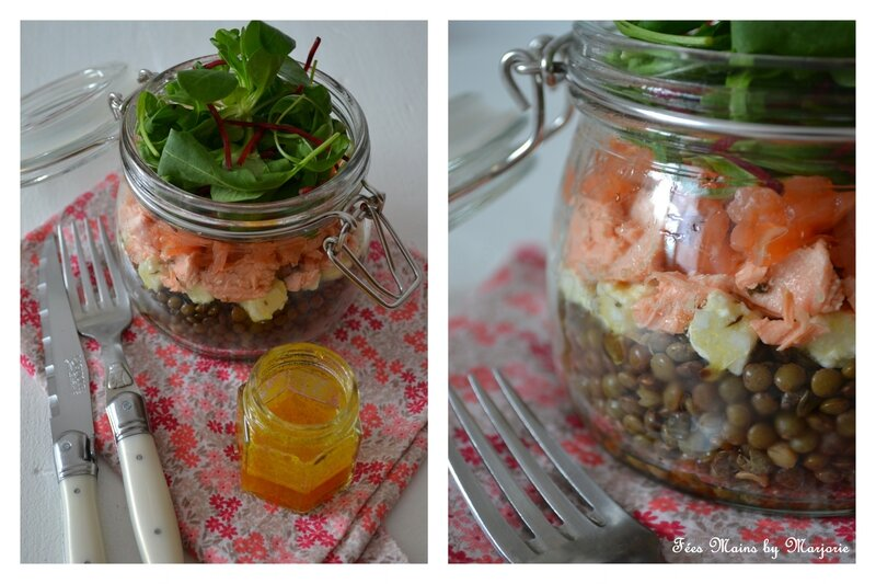 Salade lentilles féta saumon1