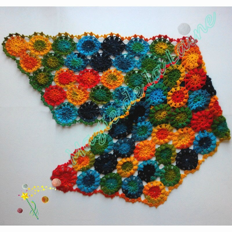 Etole fleurie colorée 1