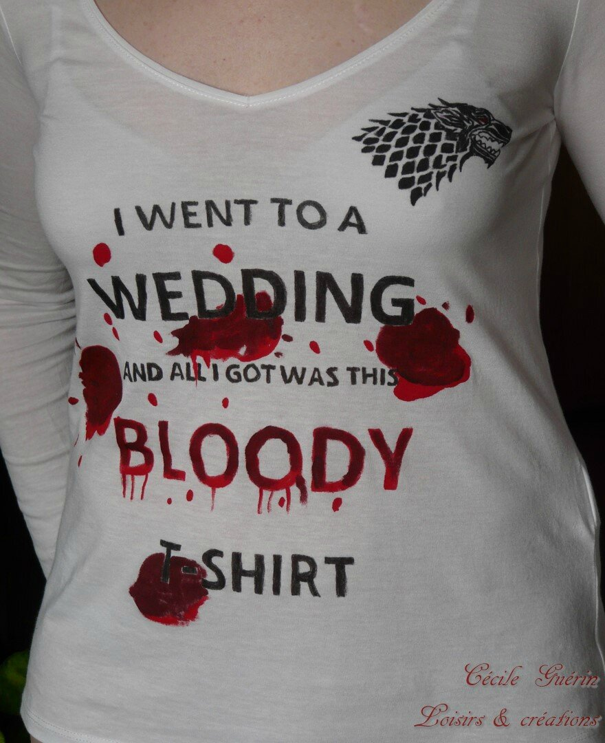 Red wedding t-shirt