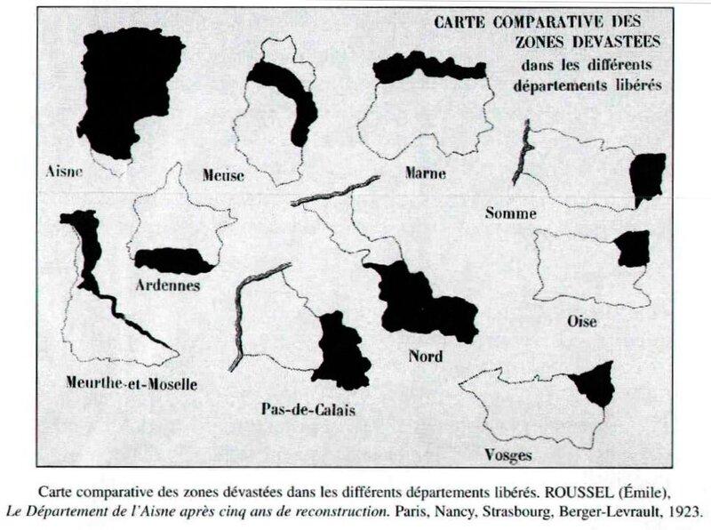 Carte des zones dévastées1